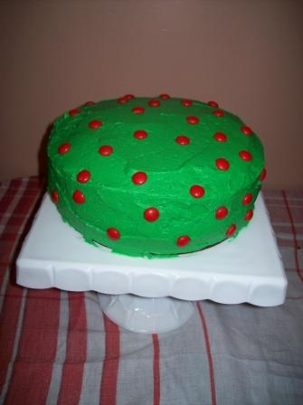 Polka Dot Christmas Cake