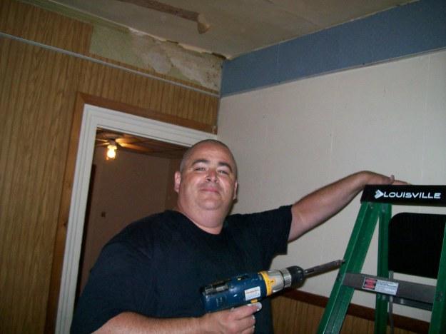 FringeMan Begins Living Room Demolition