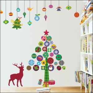Christmas Tree peel and stic Art Deco wall stickers $26.95