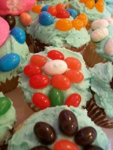 jelly bean cupcake