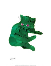 Andy-WarholGreen-Cat-c-1956