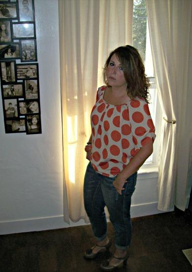 polka dot fall fashion women