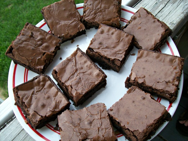 home baked chewy fudge brownies