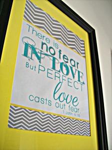 no fear in love Bible verse printable.