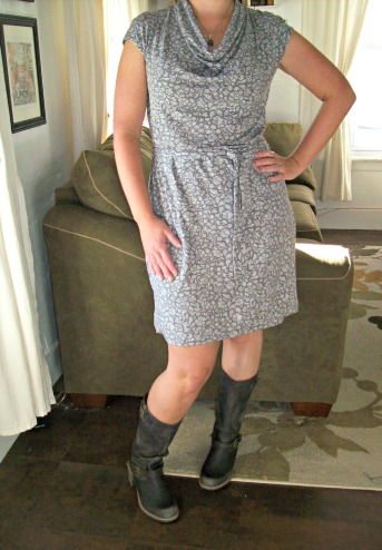 anniversary dress and motorcycle boots