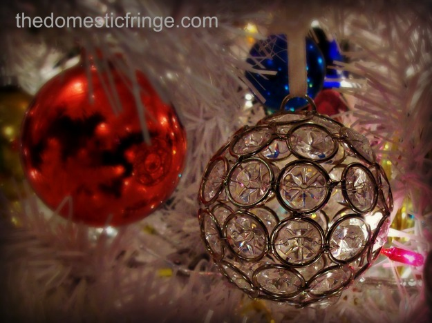 clear glass Christmas ornament @ The Domestic Fringe