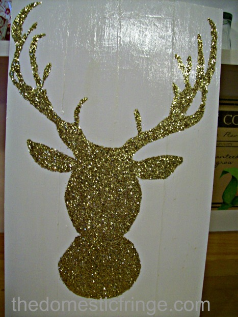 Glitter Deer Silhouette finished DIY project
