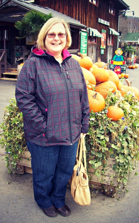 mom at the cider mill