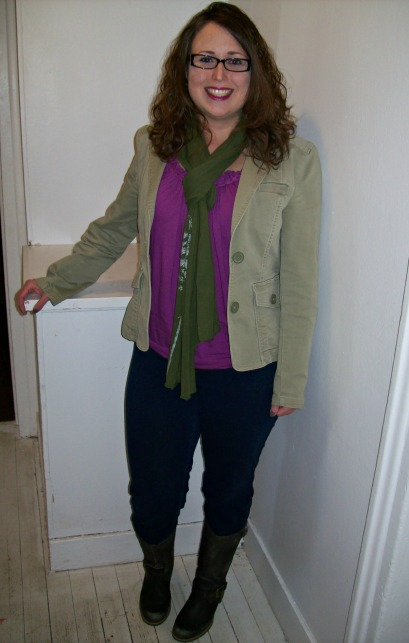 Winter outfit - scarf and jacket GAP fashion thrifted