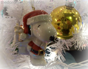 Snoopy Christmas ornament @ The Domestic Fringe
