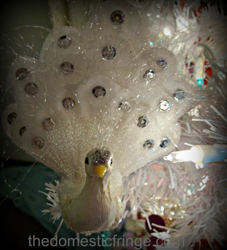 white peacock ornament @ The Domestic Fringe