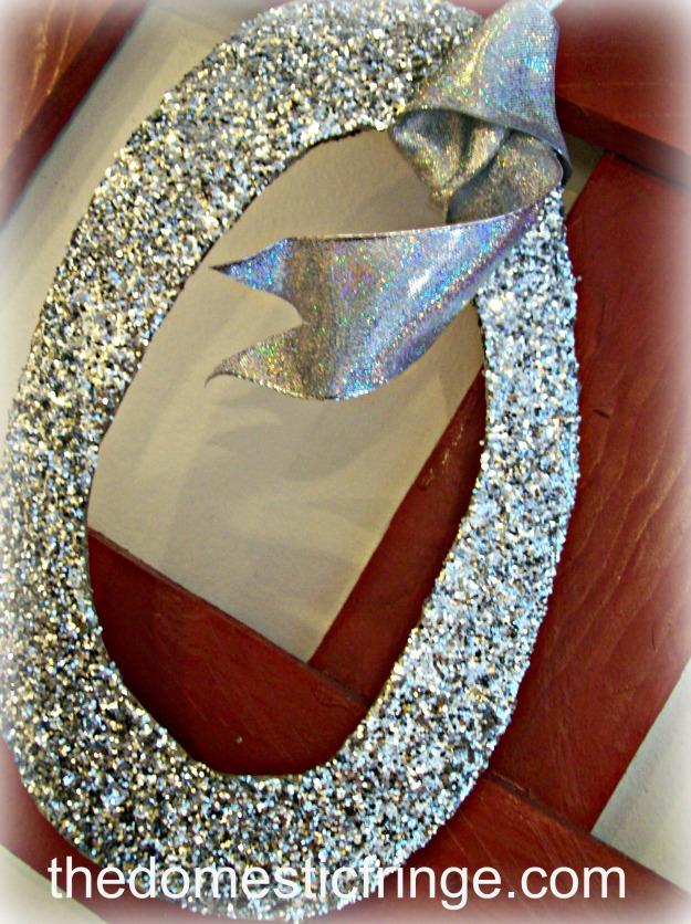DIY glitter number