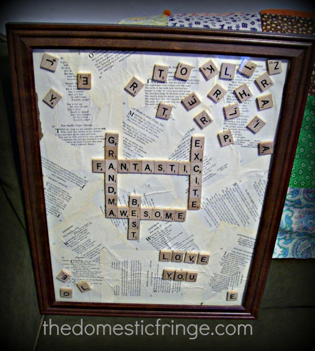 DIY Scrabble tile picture