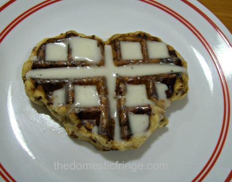 heart shapped waffle