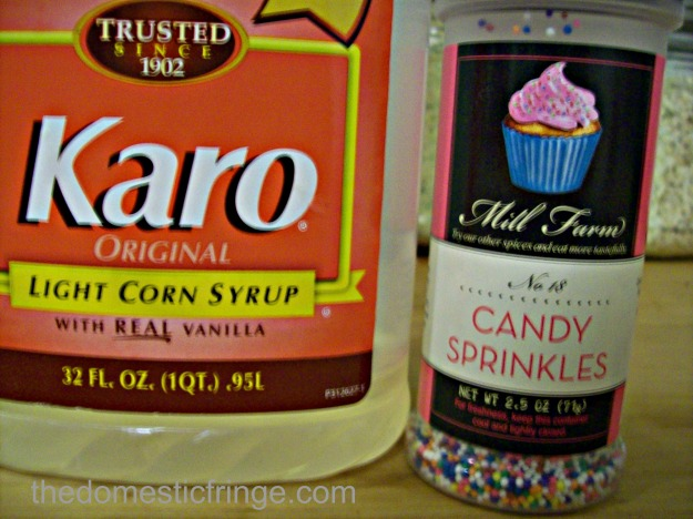 karo syrup and candy sprinkles
