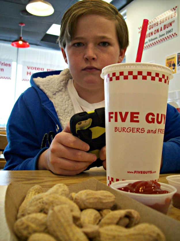 JC at Five Guys