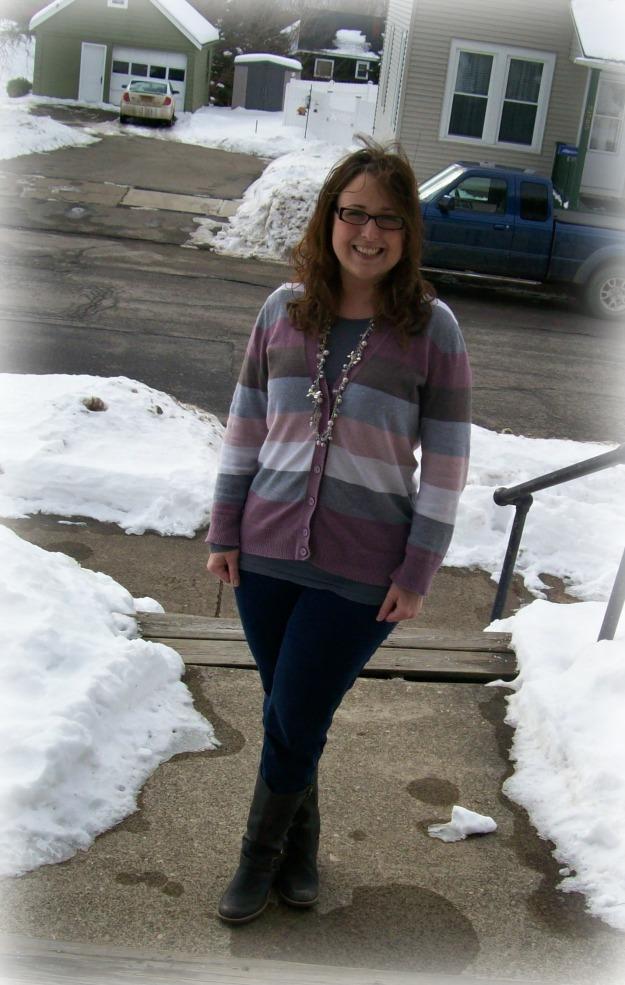 Jeans & Striped Sweater