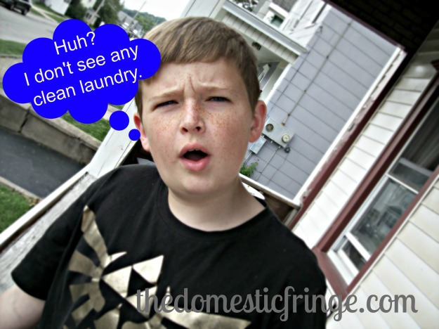 Puzzled kid with cartoon caption