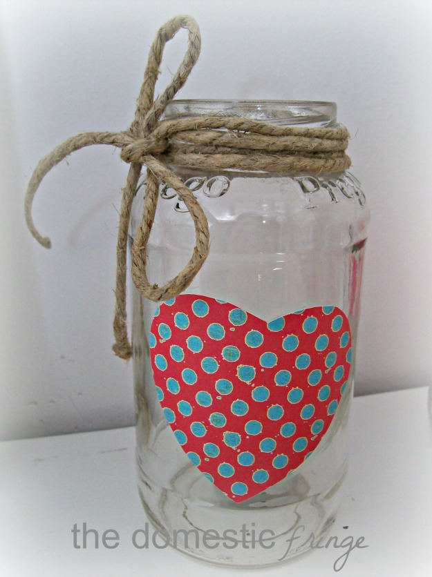 DIY Valentine Day Candle Mason Jar
